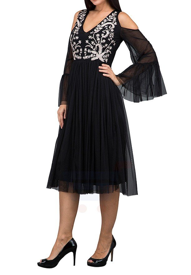TFNC London Bertie Midi With Lining Casual Black - LNB 37570 - L