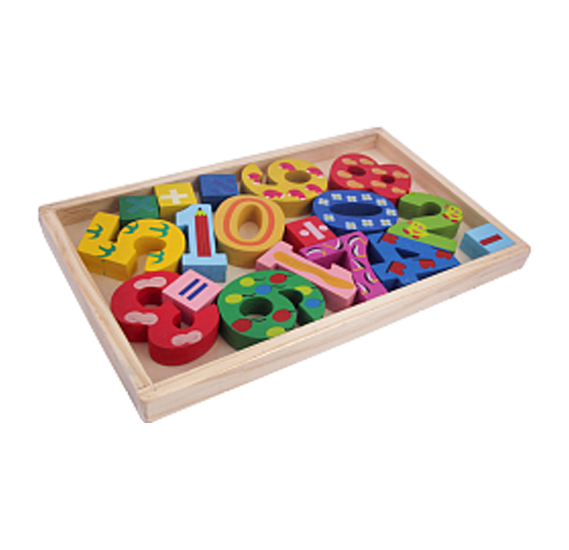 0-9 Wooden Toys Teaching Basic Math & Numbers