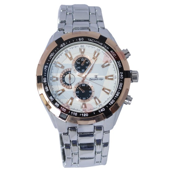 Decambridge Analog Watch For Men Silver Rose Gold - 1008A