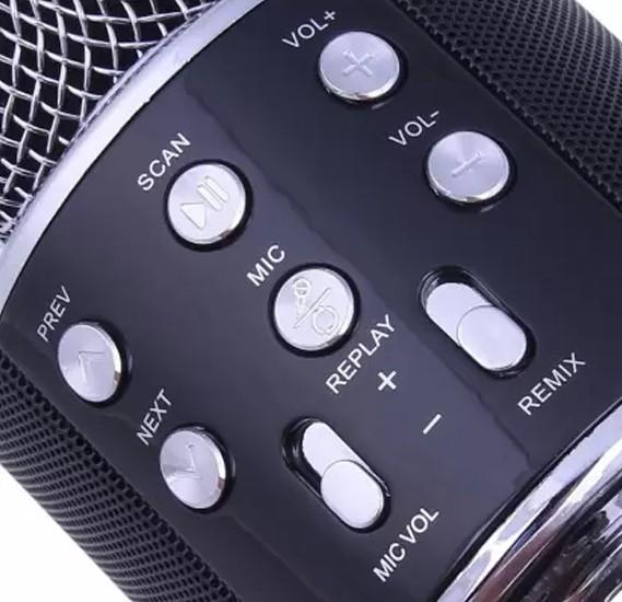 Wireless Bluetooth Karaoke Microphone Speaker Player Home KTV for Phone Microphone, WS858