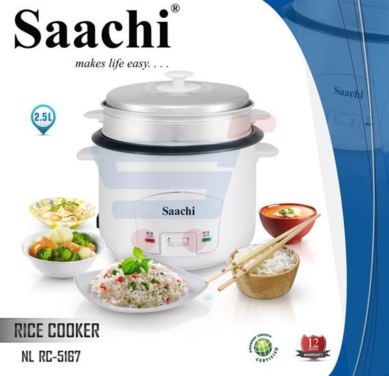 Saachi 2.5 Liter Rice Cooker ‐ RC‐5167