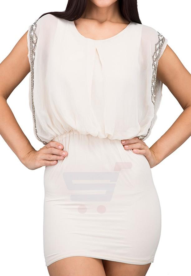 TFNC London  Blouson Formal Dress Cream - ANS 5570 - L