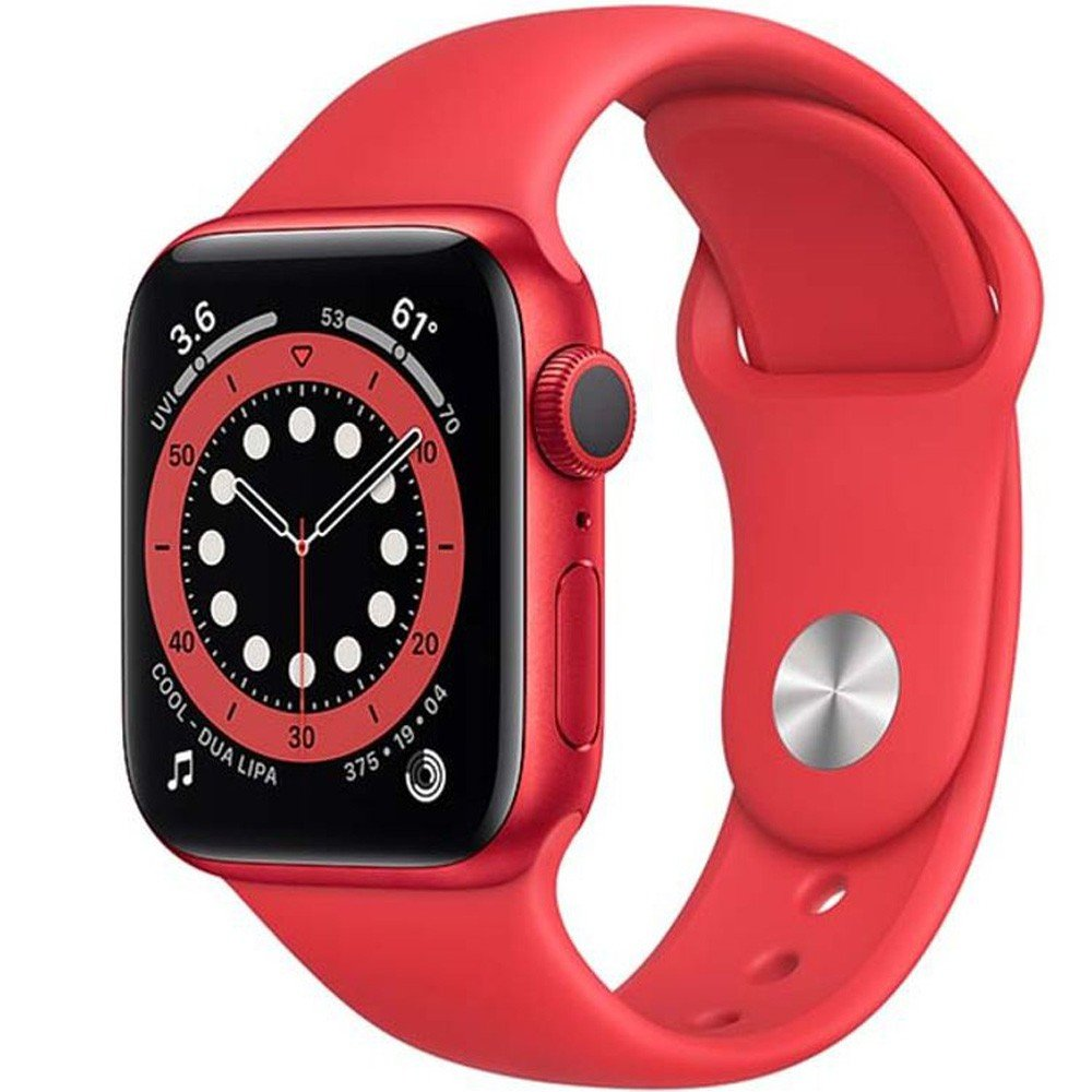 Apple Watch Series 6-44 mm GPS Aluminium Case with Red Sport Band