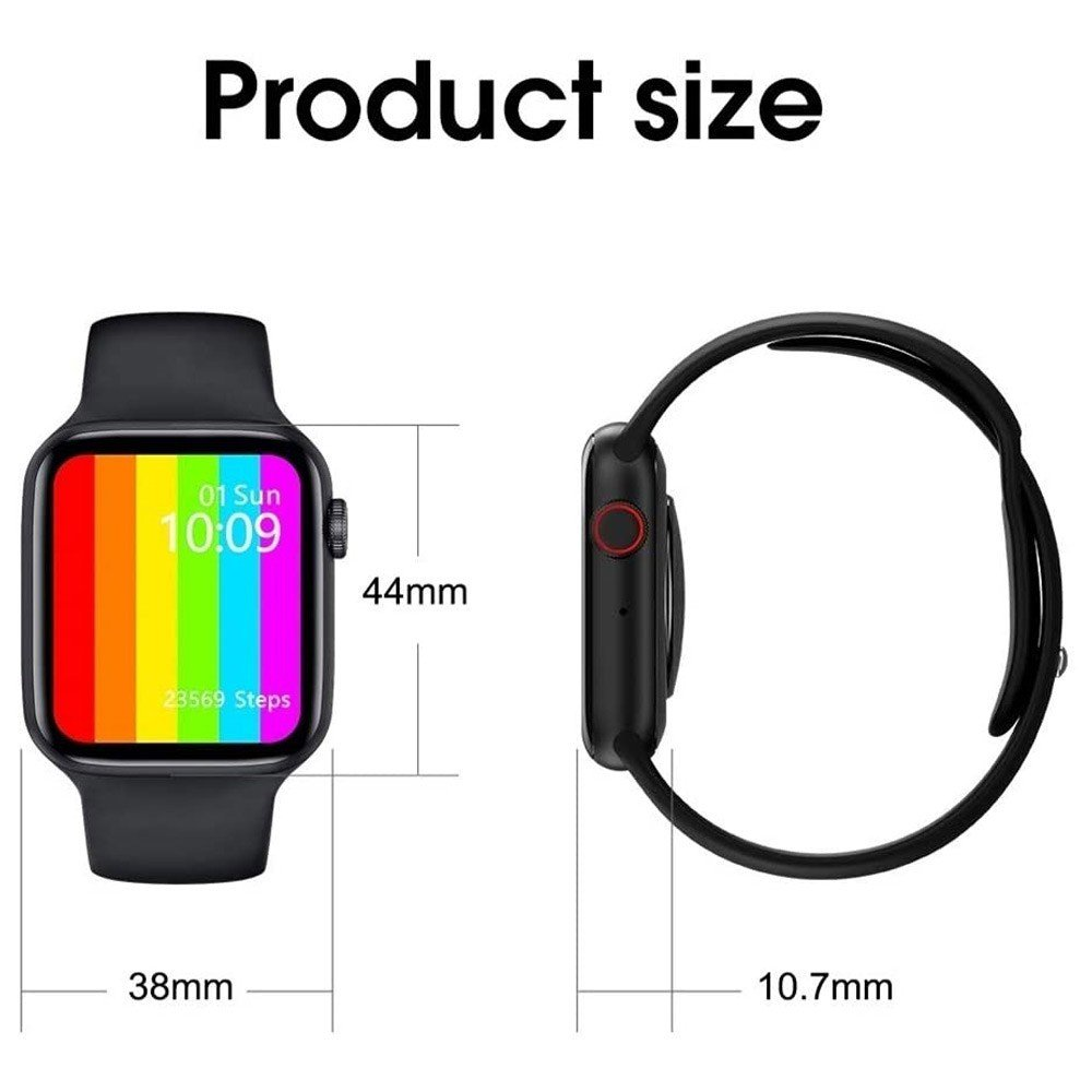 2 In 1 Haino Teko Air3 Bluetooth Wireless Headset White And W26 IPS Color Screen Smart Watch 44mm Black