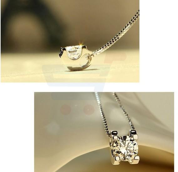 Love Cubic zircon Big Star Necklace
