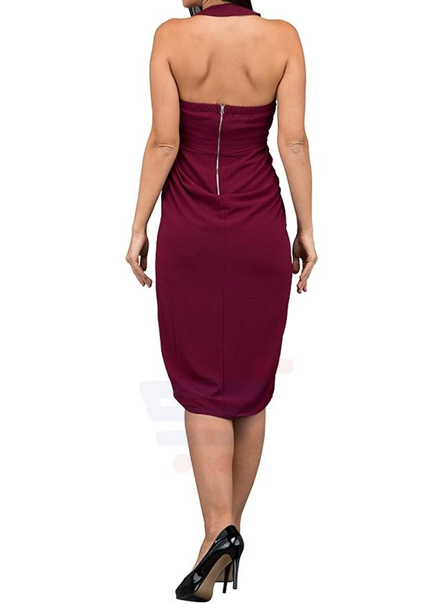 TFNC London Roxanne Casual Dress Wine - CTT 25170 - M
