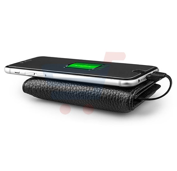 Wallet Power Bank Zhuse 2 In 1, 4000mAh  Compatible With Apple Series ZS-PB-013