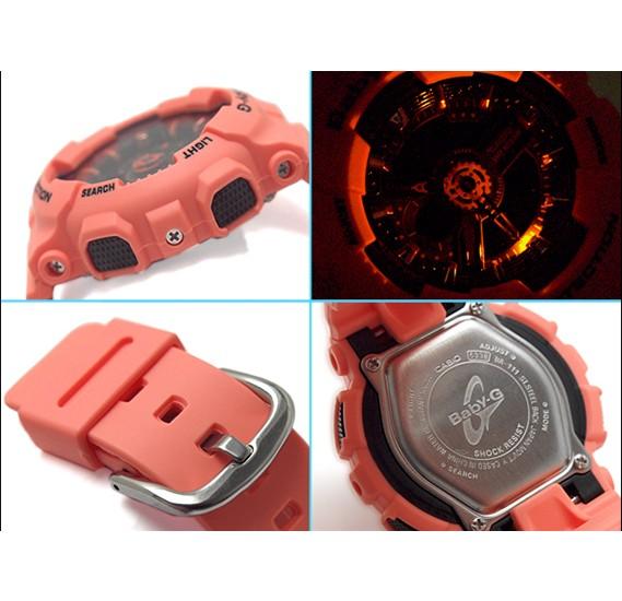Casio BabyG Womens Ana-Digi Dial Resin Band Watch, BA-111-4A2SDR
