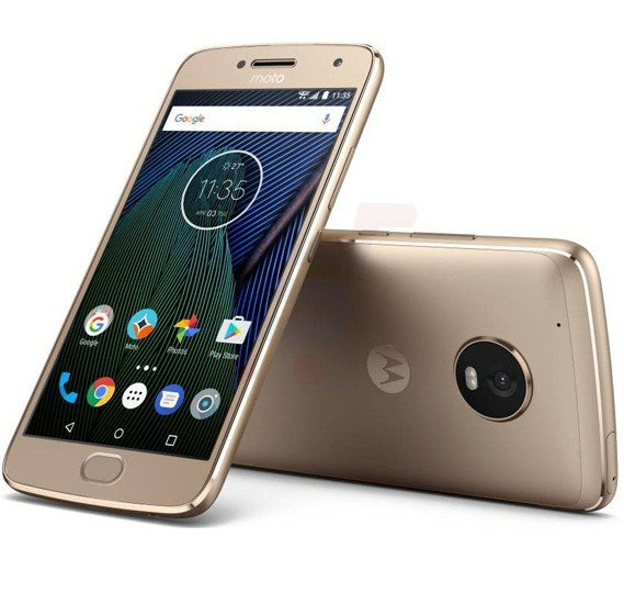 Motorola Moto G5s Plus 4G Smart Phone, 5.2 Inch Display, 4GB RAM, 32GB Storage, Dual SIM, Dual Camera - Gold