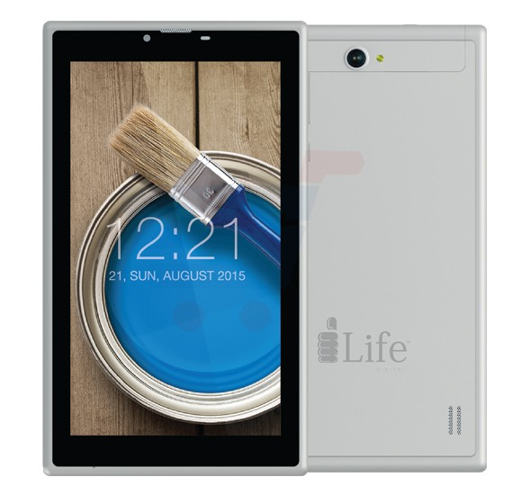 i-life ITELL K3400S Tablet, 7 Inch Display, 1GB RAM, 8GB Storage, Dual Camera, Dual SIM, 3G - Silver