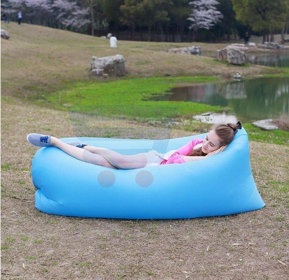Beach Portable Outdoor Air Bed Inflatable Hammock Sleeping Bag, Assorted colors