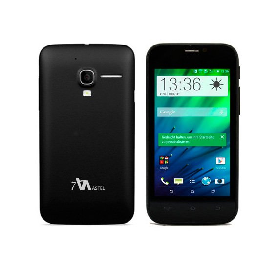 Astel M560 Smart Phone,3G,Android 4.2 Jelly Bean,Dual Core 1.0 Ghz,512 MB RAM,2GB Storage,Dual Sim,Dual Camera-Black