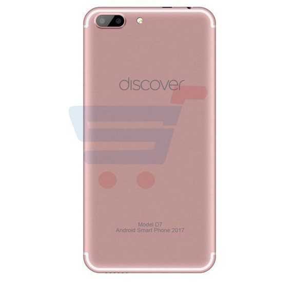 Discover D7 Smartphone,Android OS,5.5 Inch HD Display,Dual SIM,Dual Camera,2GB RAM,16GB Storage,Quad Core 1.5GHz Processor-Rose Gold