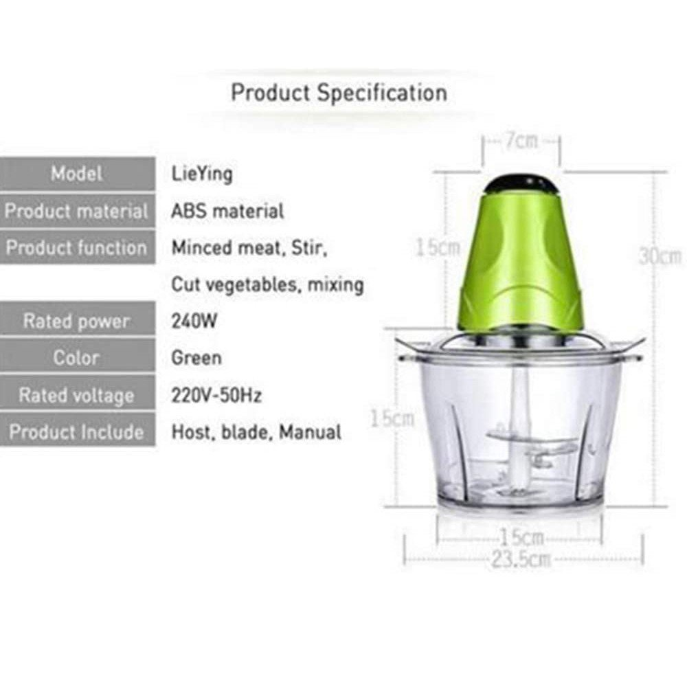 Multifunction Electric Vegetable Fruits & Nuts chopper & Meet Grinder