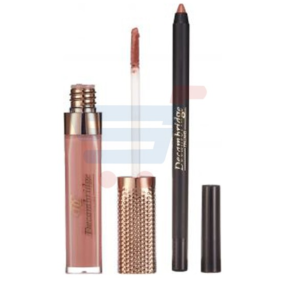Decambridge Light Brown Matte Liquid Lipstick and Lip Liner, LP19