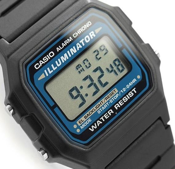 Casio Mens Resin Band Digital Watch F-105W-1ADF (TH)