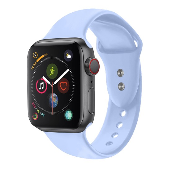 Promate Oryx-38SM Silicone Wristbands for Apple Watch, Light-Blue