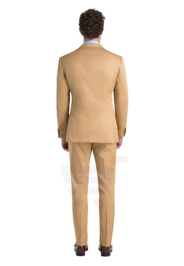 D & D Khaki Cotton Suit Hero - 55004 - L - 38