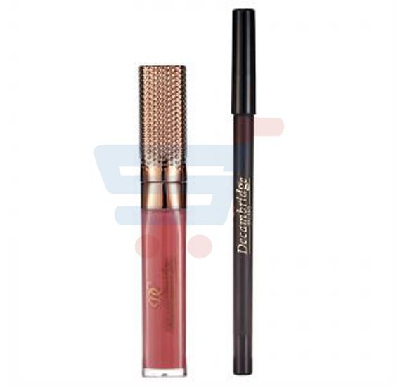 Decambridge Coco Brown Matte Liquid Lipstick and Lip Liner, LP13