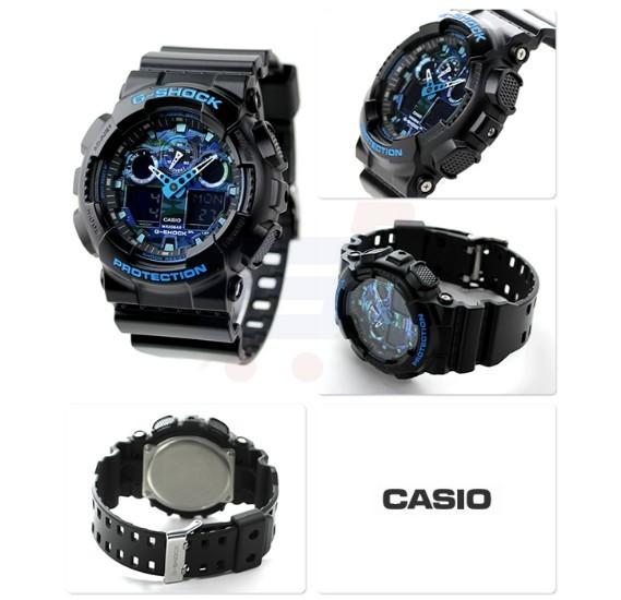 Casio G-Shock GA-100CB-1ADR Analog-Digital Blue Dial Men Watch