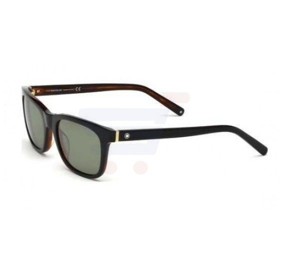 Mont Blanc Aviator Black & Havana Frame & Green Mirrored Sunglasses For Men - MB507S-01N