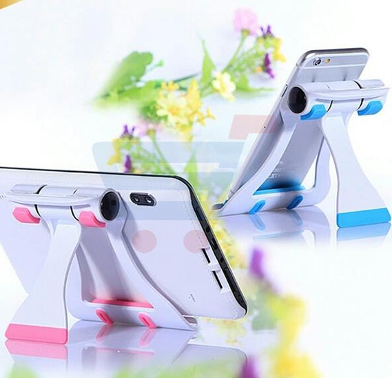Universal Multi-colour Desktop Adjustable Protable Cabinet Flexible Folding Holder with 150 Degree Rotating Stand For Smartphone and Tablet