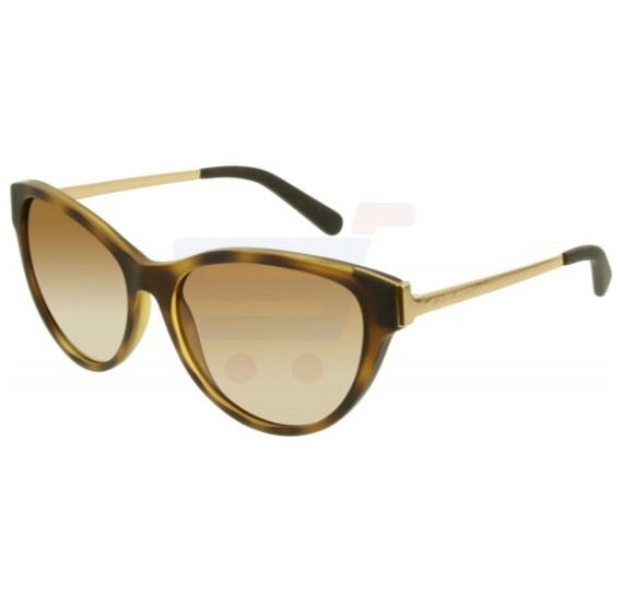 Michael Kors Cat Eye Dark Tortoise Soft Touch Frame & Brown Gradient Mirrored Sunglasses For Woman - 0MK6014-302113