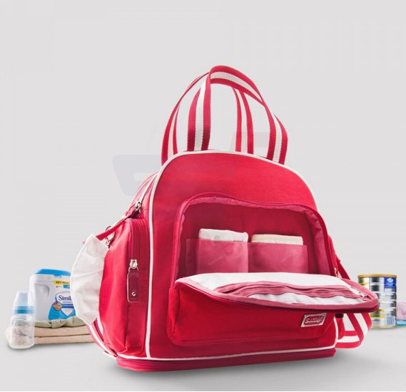 Sunveno Signature Maternity Diaper Bag Red