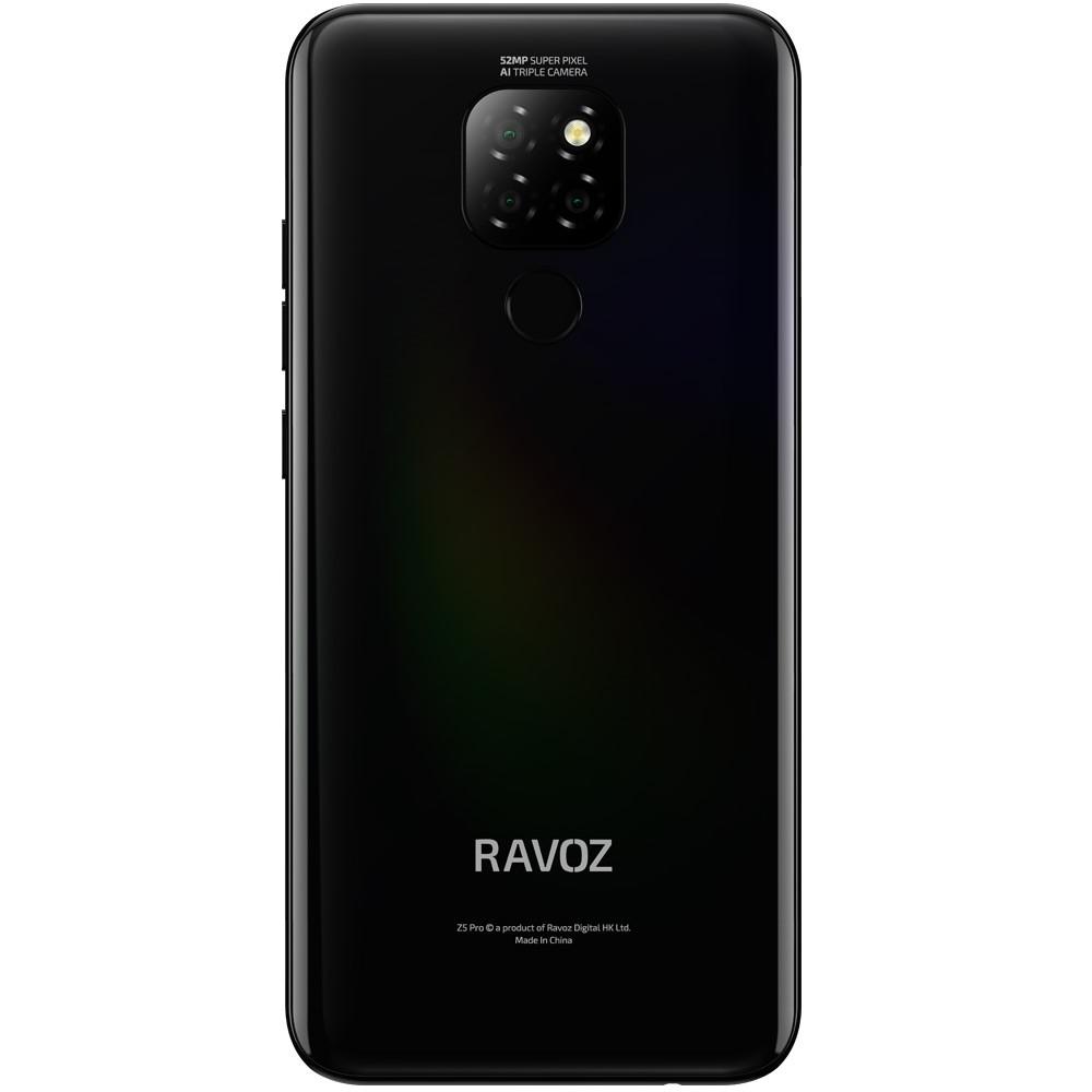 Ravoz Z5 Pro Dual SIM 4GB RAM 64GB Storage 4G LTE, Dazzling Black