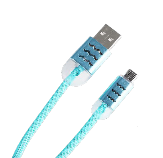 Fashionable Multicolor Lightning To USB Data Charging Cable With LED Light For Android