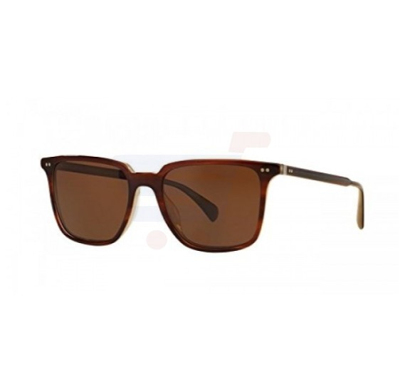 Oliver Peoples Rectangle Brown Frame & Brown Java Vfx Mirrored Sunglasses For Woman - 5316SU 1437N9