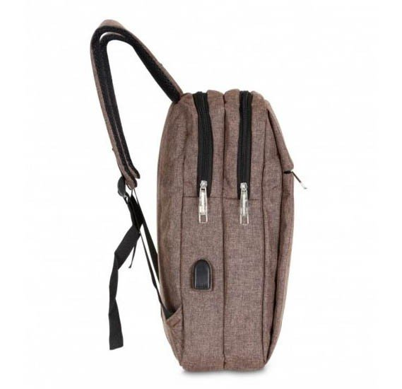 Okko Casual Backpack - 16 Inch, Coffee,OK33804