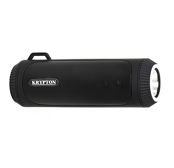 Krypton Rechargeable Bluetooth Speaker With Flashlight, KNMS6130