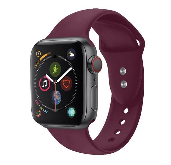 Promate Oryx-42SM Silicone Rubber Apple Watch Sport Strap, Maroon