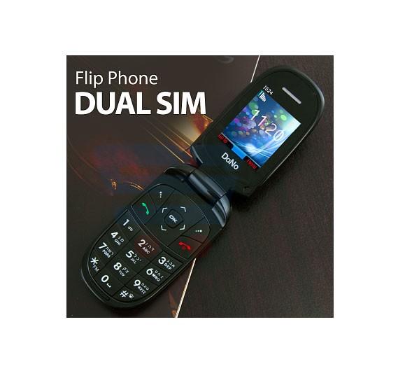 Dano Flip Phone 1524, Dual Sim, 2G, Keypad Phone, White
