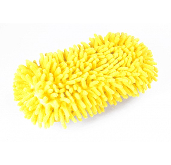 Premium High Quality Car Cleaning Hand Duster Sponge With Microfiber Mitts, Multi-Color, 054