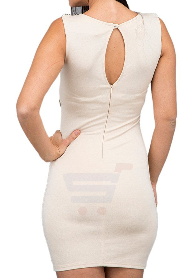 TFNC London Layla Bodycon Party Dress Cream - EG 7708 - L