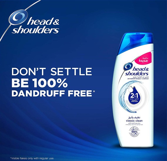 Head & Shoulders Classic Clean 2in1 Anti-Dandruff Shampoo 400ml  - 23406