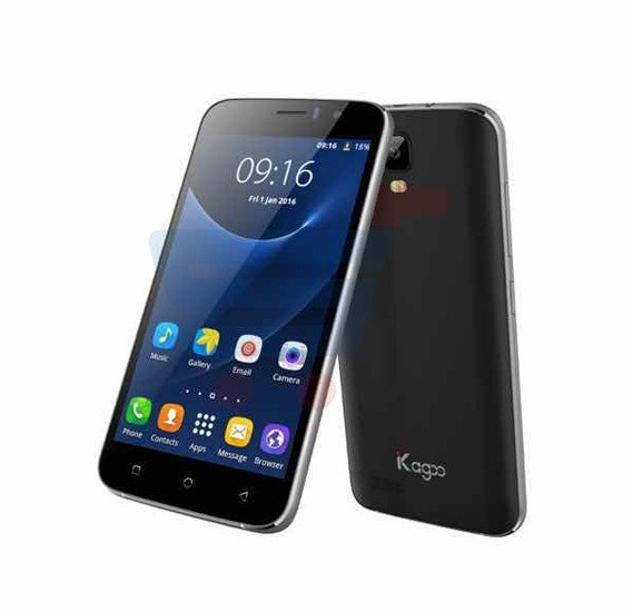 Kagoo K08 Smartphone, Android 5.1, 5 Inch Display, 1GB RAM, 4GB Storage, Dual Camera, Dual SIM, Wifi - Black