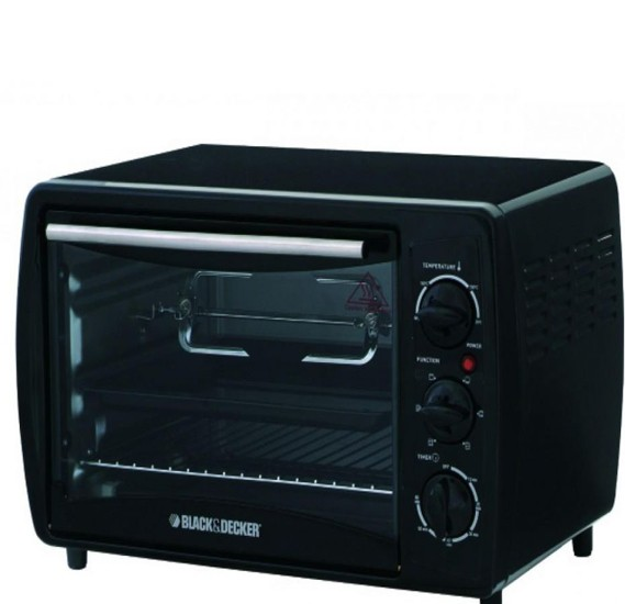Black & Decker 19 Ltr Toaster Oven with Rottiserie, TRO2000R-B5