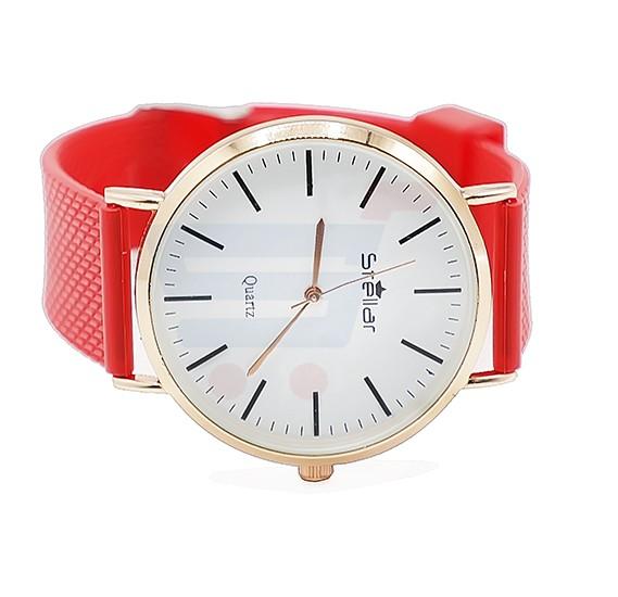 Stellar Luxury Quality Quartz  Watch for Women And Men Red-ST104