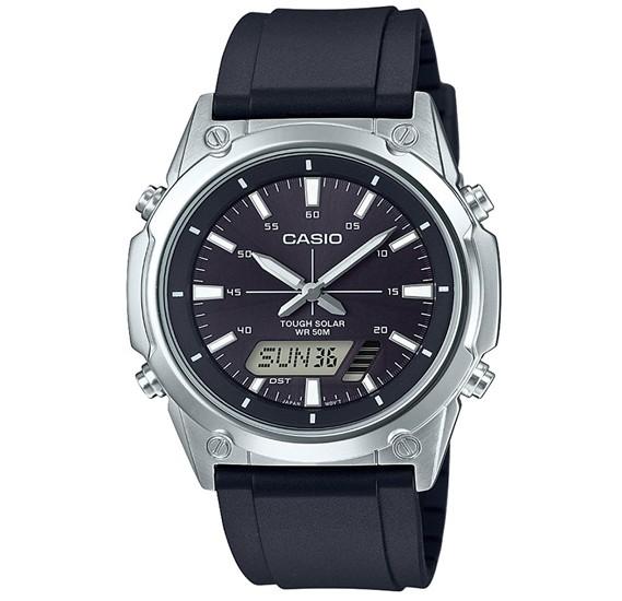 Casio AMW-S820-1AVDF  Enticer Analog-Digital Black Dial Mens Watch