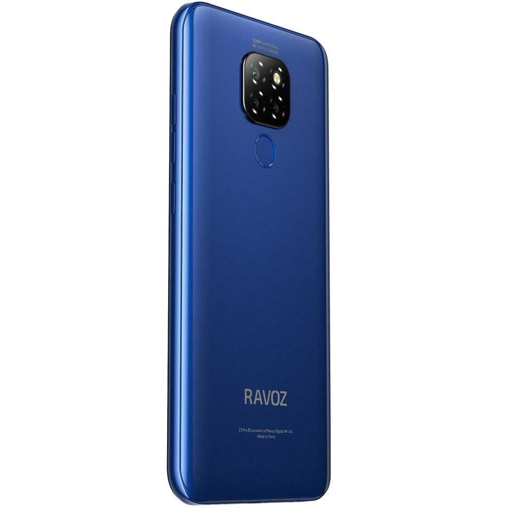 2 in 1 Bundle Pack Ravoz Z3 Pro Dual SIM Blue Free With Heatz ZB90 Wireless Bluetooth Earphone