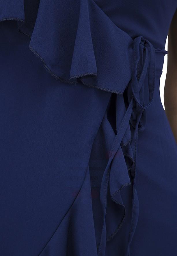 WAL G Italy V Neck Casual Dress Navy - WG 7762 - XXL
