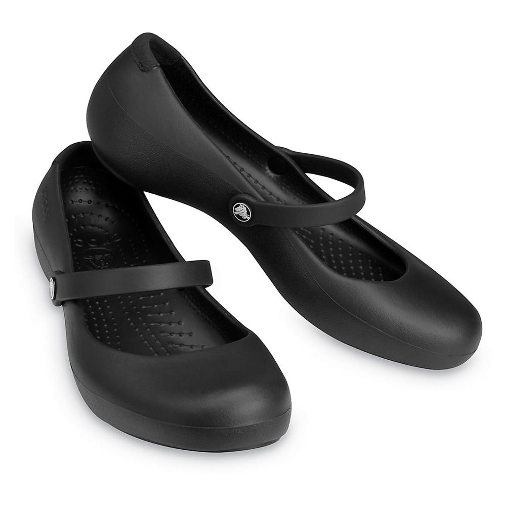 Crocs Womens Clogs Pump Shoes Alice Work Black 11050-001