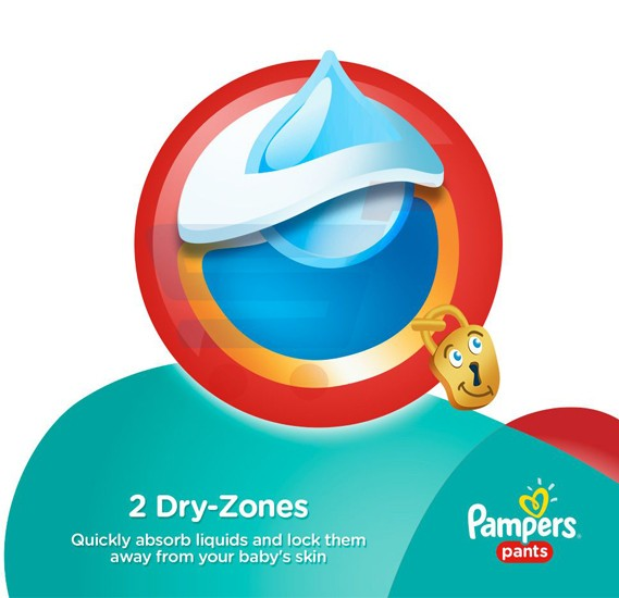Pampers Pants Jumbo Pack 6-9Kg, JP-60 Count (1x60Pcs)