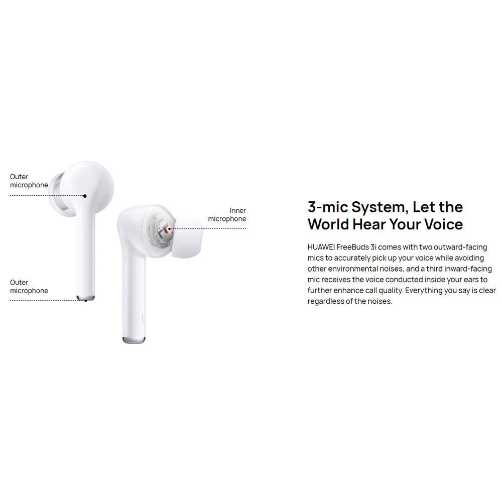 Huawei FreeBuds 3i Bluetooth Noise Cancelling Ear-Bud, Ceramic White