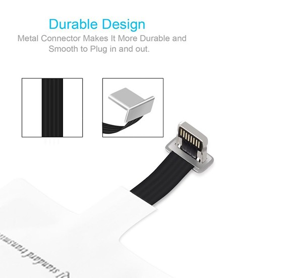 Ultra Thin Wireless Charging Qi Receiver for Apple iphone 7, iphone 7 plus, 6, 6 plus, 5, 5S And 5C