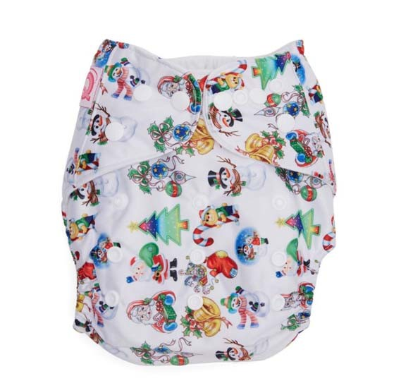 QQ Baby One Size Reusable Pocket Diaper With 2 Nappy, Qq-061