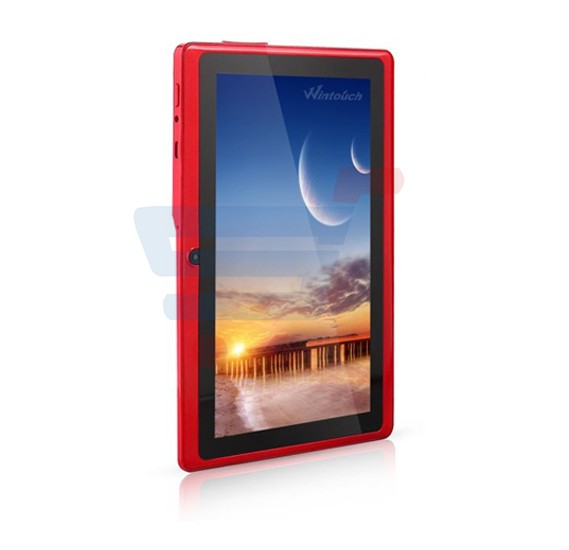 Wintouch Q75S Tablet,WiFi,7.0 Inch Display,Android 4.4 OS,512MB RAM,8GB Storage,Quad Core,Dual Camera-Red with GiftPacking